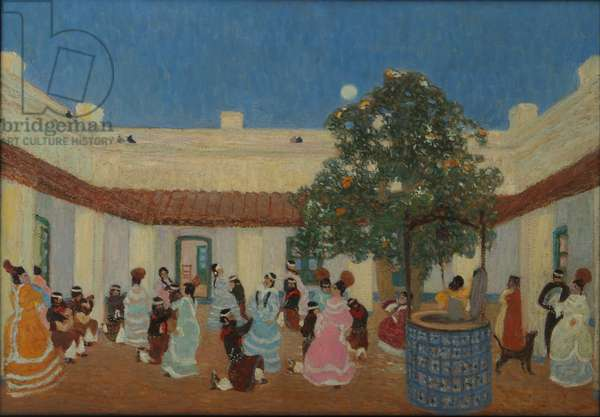 Patio, 1880-1938 (oil)
