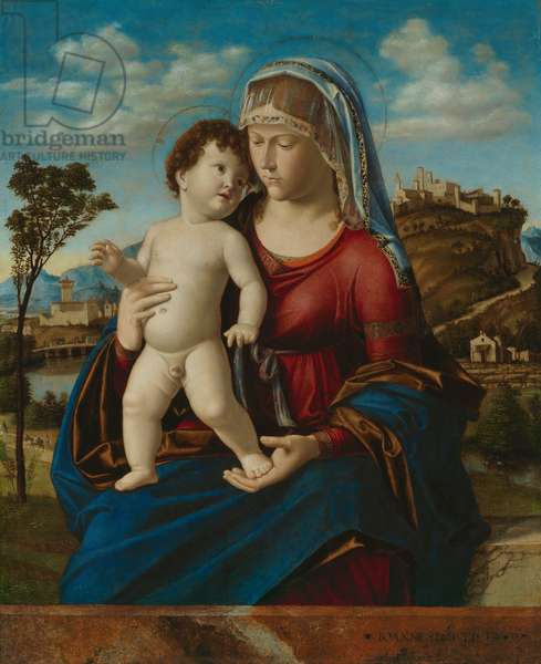 Madonna and Child in a Landscape, c.1496-99 (oil on panel)