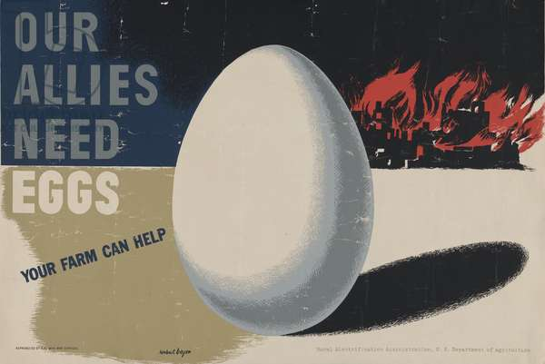 Our Allies need Eggs. Your Farm can Help, 1940 (colour litho)