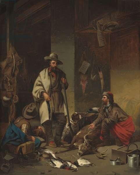 The Trapper's Cabin, 1858 (oil on canvas)