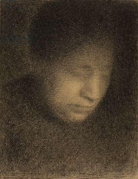 Madame Seurat, the Artist's Mother, c.1882-3 (conte crayon on Michallet paper)