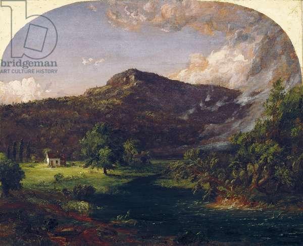 Tourn Mountain, Head Quarters of Washington, Rockland Co., New York, 1851 (oil on canvas)
