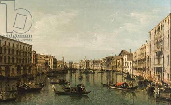 View of Grand Canal with the Palazzi Foscari and Moro Lin (oil on canvas)