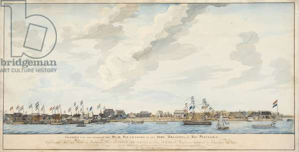 View of the city of Paramaribo and the Fort Zeelandia, 1772 (watercolour on paper)