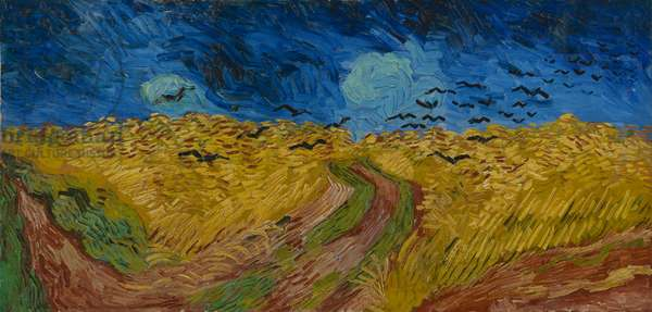 Wheatfield with Crows, 1890 (oil on canvas)