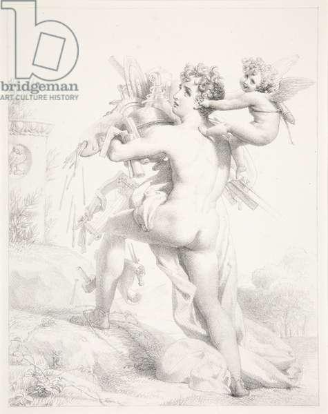 Qui trop embrasse, mal étreint, 1818 (lithograph)