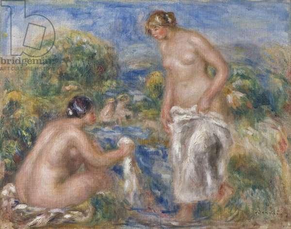 Bathing Women (oil on canvas)