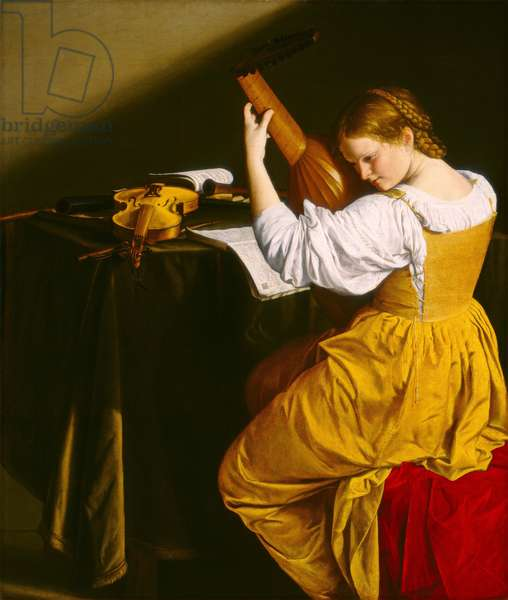 The Lute Player, c.1612-20 (oil on canvas)