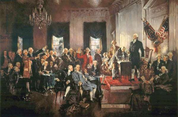 The Signing of the Constitution of the United States in 1787, 1940 (oil on canvas)