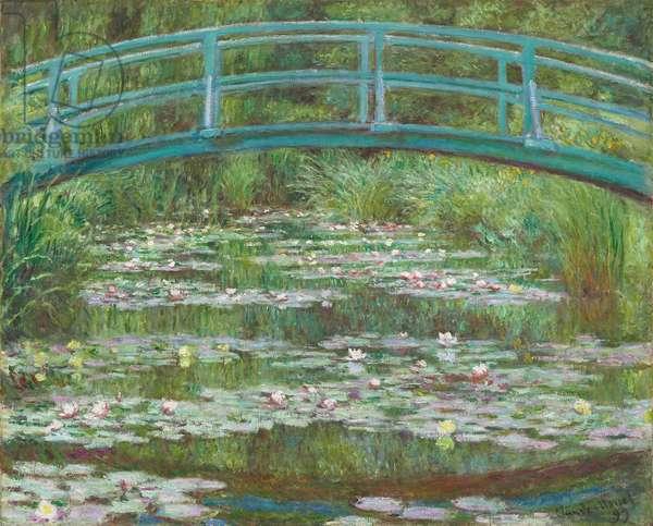 The Japanese Footbridge, 1899 (oil on canvas)