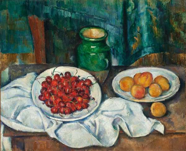 Still Life with Cherries and Peaches, 1885-7 (oil on canvas)