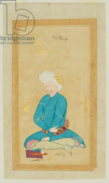 Portrait of Hakim Shifaeh, 1628-29 (paint, gold and ink on paper)