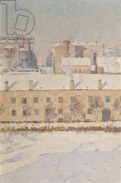 A Winter Scene. Motif from Southern Stockholm, 1886 (oil on paper)