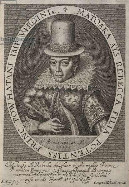Pocahontas  (c. 1595-1617), 1616 (engraving)