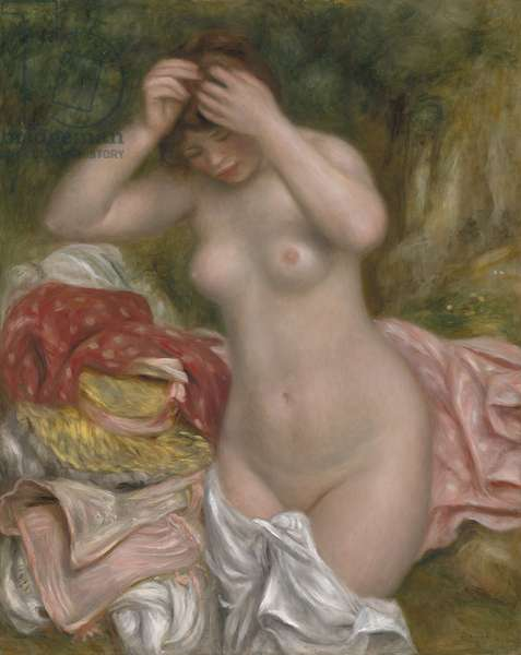 Bather Arranging her Hair, 1893 (oil on canvas)