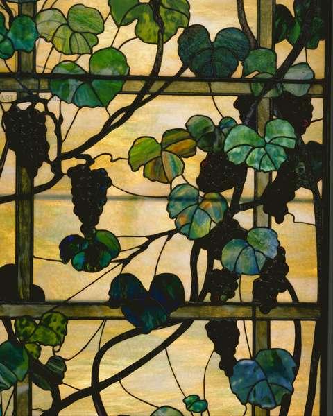Grapevine Panel, c.1902-15 (leaded favrile glass)