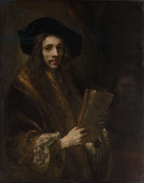 """Portrait of a Man (""""The Auctioneer""""), c.1658-62 (oil on canvas)"""