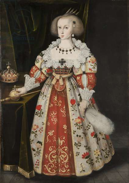 Queen Kristina as a Child, c.1635-40 (oil on canvas)