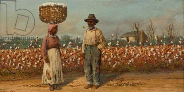 Cotton Pickers, c.1890 (oil on academy board)
