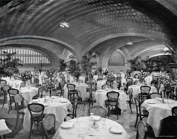 Restaurant, Grand Central Terminal, N.Y. Central Lines, New York, c.1910-20 (b/w photo)