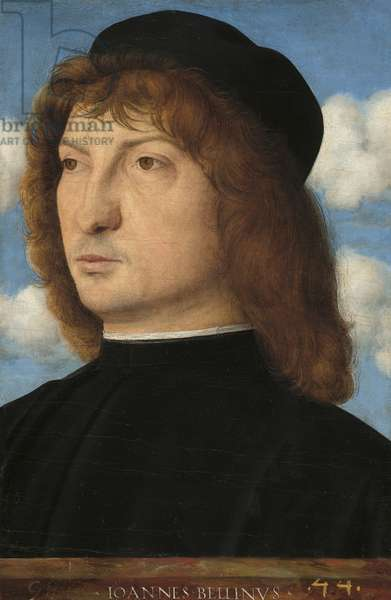 Portrait of a Venetian Gentleman, c.1500 (oil on panel transferred to panel)