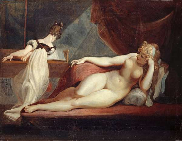 Reclining Nude and Woman at the Piano, 1799-1800 (oil on canvas)
