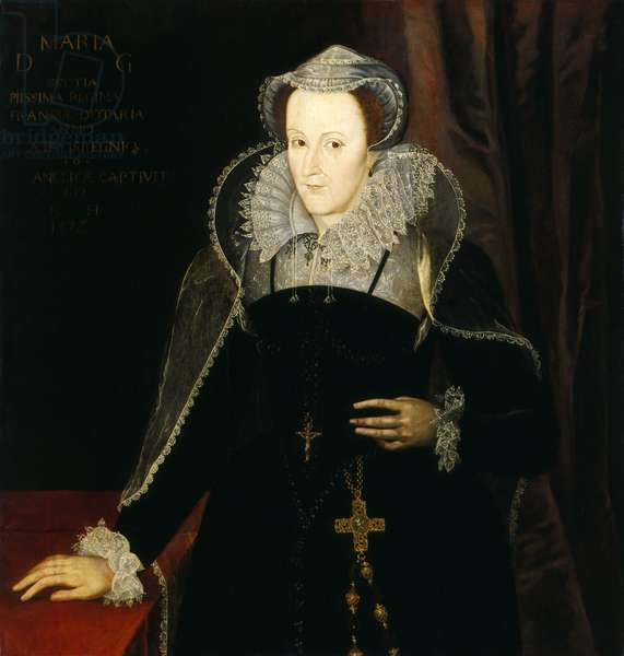 Portrait of Mary Stuart, Queen of Scots, 1578 (oil on panel)