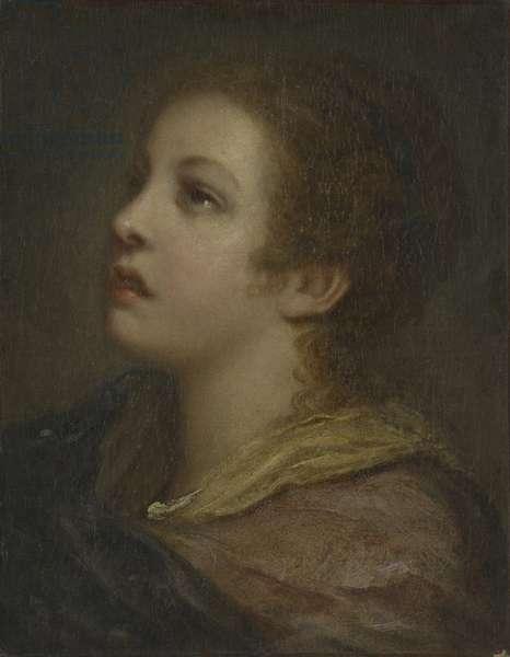 Mademoiselle Greuze (oil on canvas)