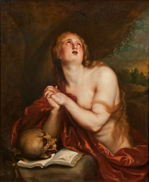 The Penitent St. Mary Magdalene, c.1630-40 (oil on canvas)