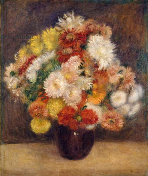 Bouquet of Chrysanthemums, 1881 (oil on canvas)