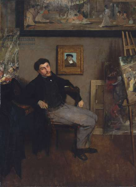Portrait of the painter Tissot, 1867-8 (oil on canvas)