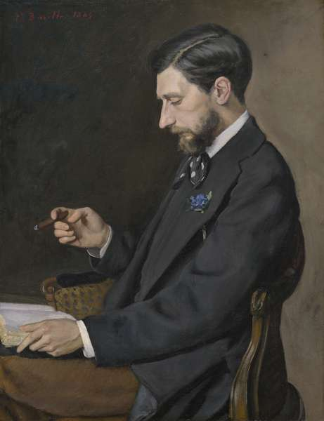 Edmond Maître, 1869 (oil on canvas)