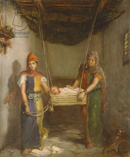 Scene in the Jewish Quarter of Contantine, 1851 (oil on canvas)