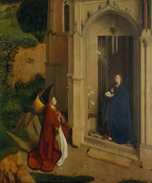 The Annunciation, c.1450 (oil on wood)