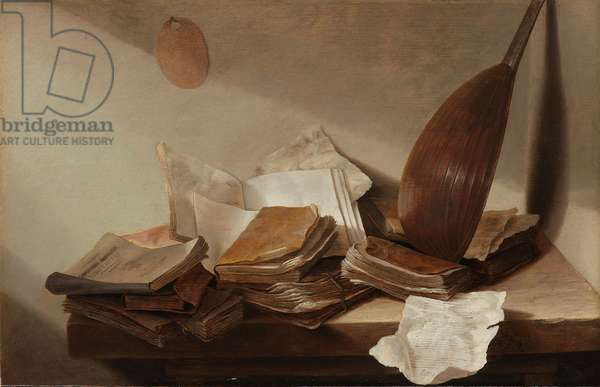 Still Life with Books, 1625-30 (oil on panel)