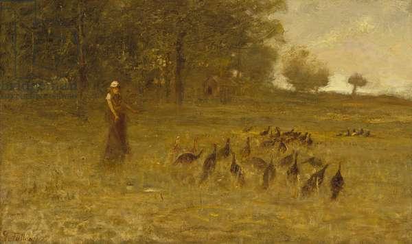 Girl with Turkeys, 1883-84 (oil on canvas)