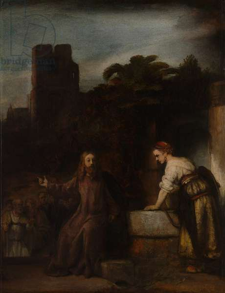 Christ and the Woman of Samaria, c.1655 (oil on wood)