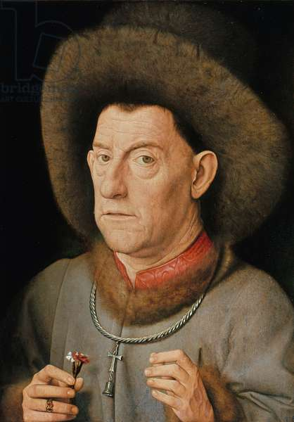 Portrait of a Man with carnation and the Order of Saint Anthony (oil on oak)