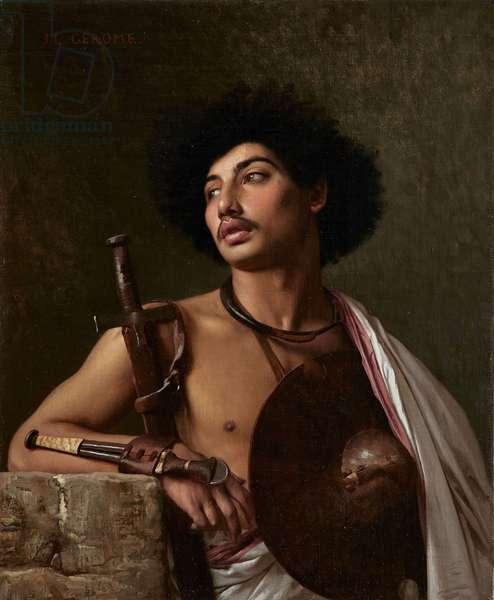 A Bischari Warrior, 1872 (oil on canvas)