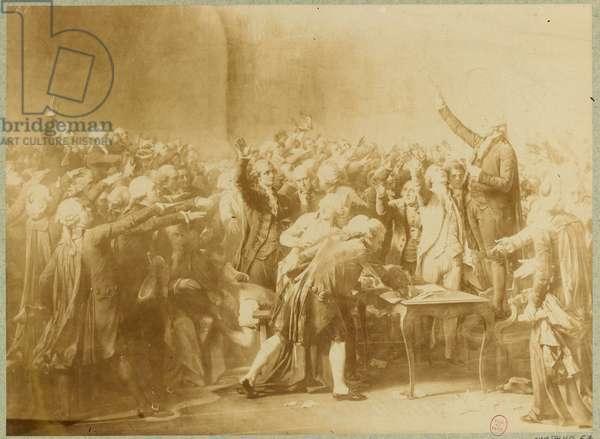 Le Serment du jeu de Paume, 20 juin 1789 (sepia photo)
