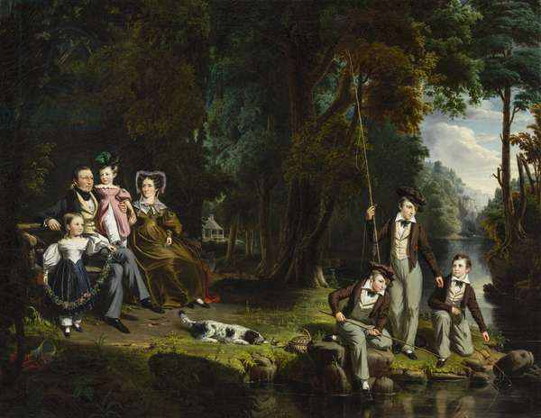 Alexander Masterton and His Wife and Children, 1834 (oil on canvas)