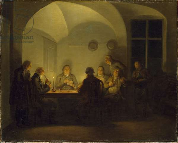 Card Players, 1815 (oil on canvas)