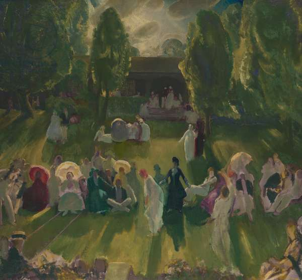 Tennis at Newport, 1919 (oil on canvas)