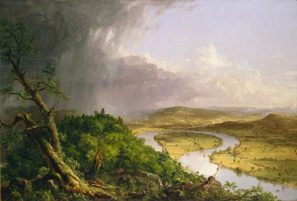 View from Mount Holyoke, Northampton, Massachusetts, after a Thunderstorm—The Oxbow, 1836 (oil on canvas)
