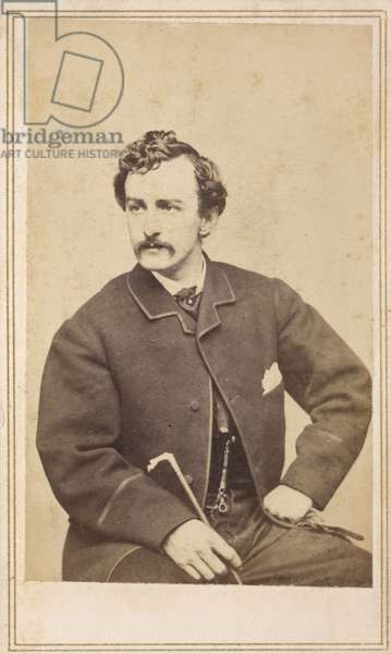 Carte de visite of John Wilkes Booth, 1862 (albumen print on card)