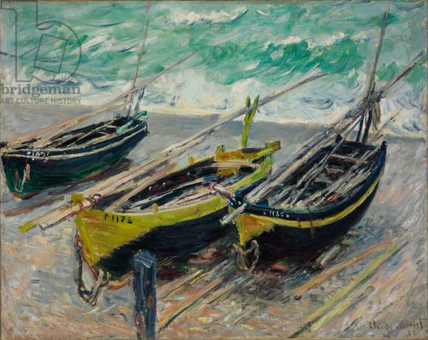 Three Fishing Boats, 1886 (oil on canvas)