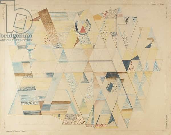 Futurist Garden, 1937 (watercolour on paper)