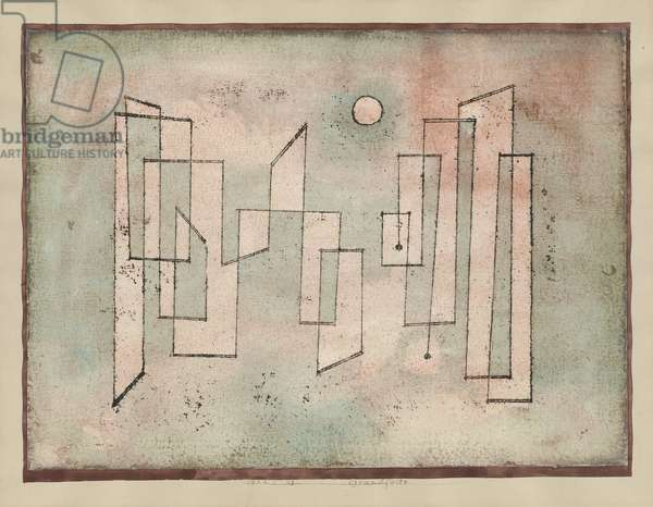 Foundation, 1922 (Oil transfer-drawing on rough watercolour)