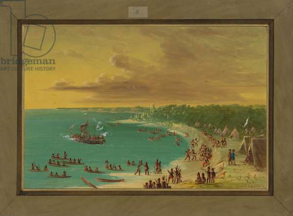 First Sailing of the Griffin on Lake Erie, August 7th 1679, 1847-48 (oil on canvas)