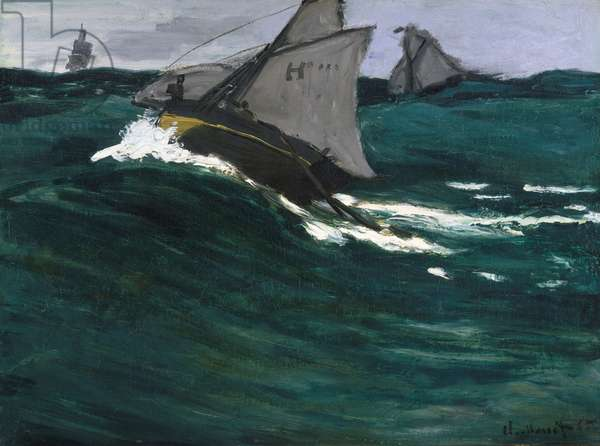 The Green Wave, c.1866-67 (oil on canvas)